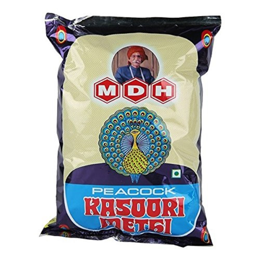 Peacock Kasoori Methi (dried Fenugreek Leaves) 3.5 Oz (100 grams) by MDH