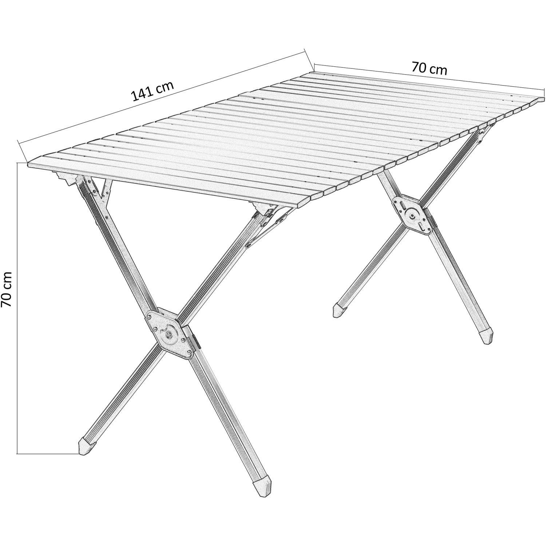 gartentisch 120x70 alu gallery of xxl aluminium rolltisch klapptisch falttisch gartentisch. Black Bedroom Furniture Sets. Home Design Ideas