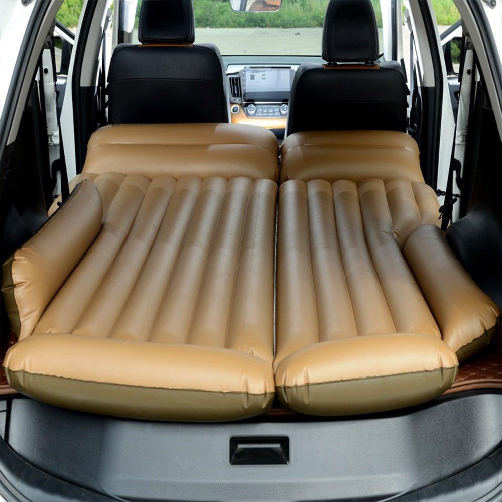 ZXQZ Auto-aufblasbares Bett-Erwachsenes Reise-aufblasbares Bett Querfeldeinsturz-Luftbett SUV-Auto-Schlag-Beweis-Schlafenauflage Aufblasbares Bett (Farbe : Beige)