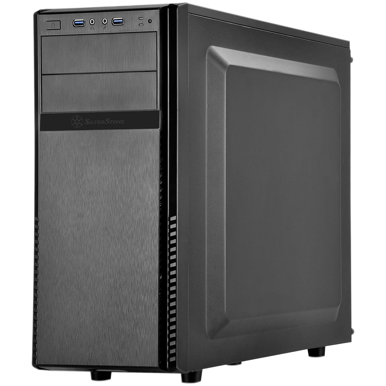 SilverStone SST-PS11B-Q - Carcasa de ordenador silenciosa Precision Midi Torre ATX, negro