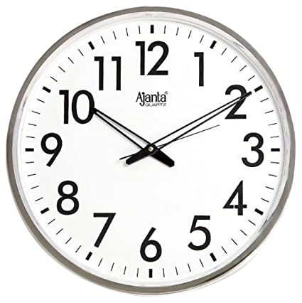 amazon com ajanta quartz wall clock 32 cm x 32 cm x 32 cm silver