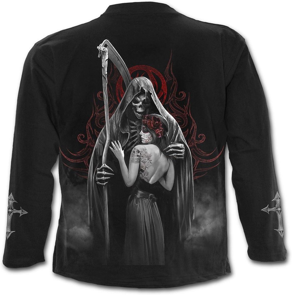 Spiral Dead Kiss T Shirt Black Men/'s