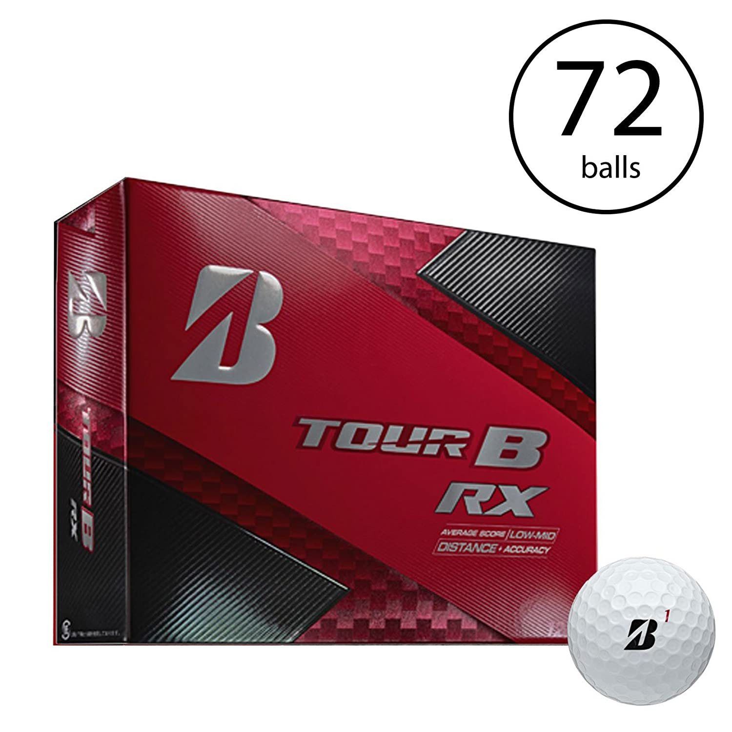 Bridgestone Tour B RX Feel and Distance Golf Balls Low Average Score (6 Dozen)