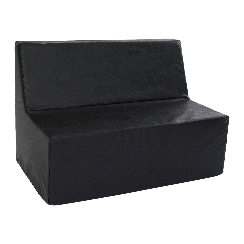 Foamnasium Straight Back Sofa Playset, Black