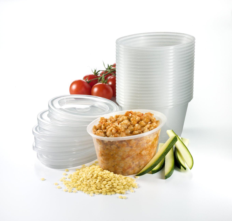 Mummy Cooks - Lot de 20 boites de conservation avec couvercle (180 mL) - Sans bisphénol A MC01520