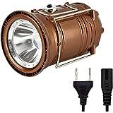 GESIMEI LED Campeggio Lanterna Torcia elettrica ricaricabile Solare Lampada Portatile Luminosa Collassabile Illuminazione per Emergenza Bronzo