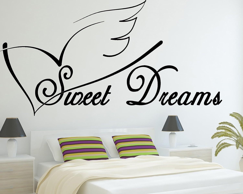 SWEET DREAMS wall art sticker bedroom decor large