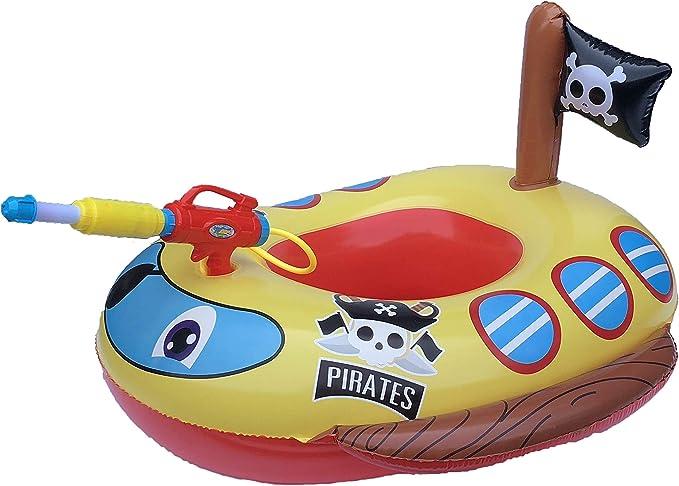 Big Summer Flotador Inflable para Piscina para niños con Pistola ...