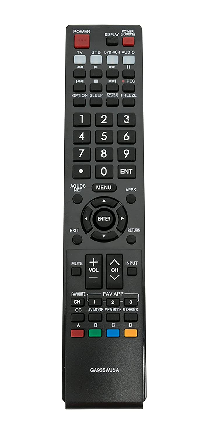 New GA935WJSA Replace Remote fit for Sharp AQUOS LC40LE830U LC-40LE830U LC40LE830UN LC-40LE830UN LC46LE830 LC46LE830U LC46LE830U LC46LE830UN LC-52LE830U LC-60LE830U LC60LE830UN LC40lE830UN LC52lE830UN VINABTY factory