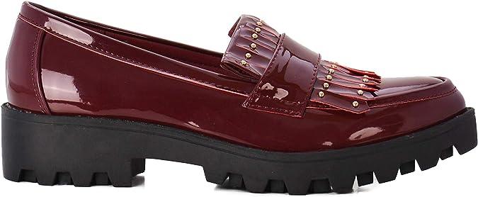 Zapatos de Mujer Estilo Blucher Mocasines: Amazon.es: Zapatos y ...