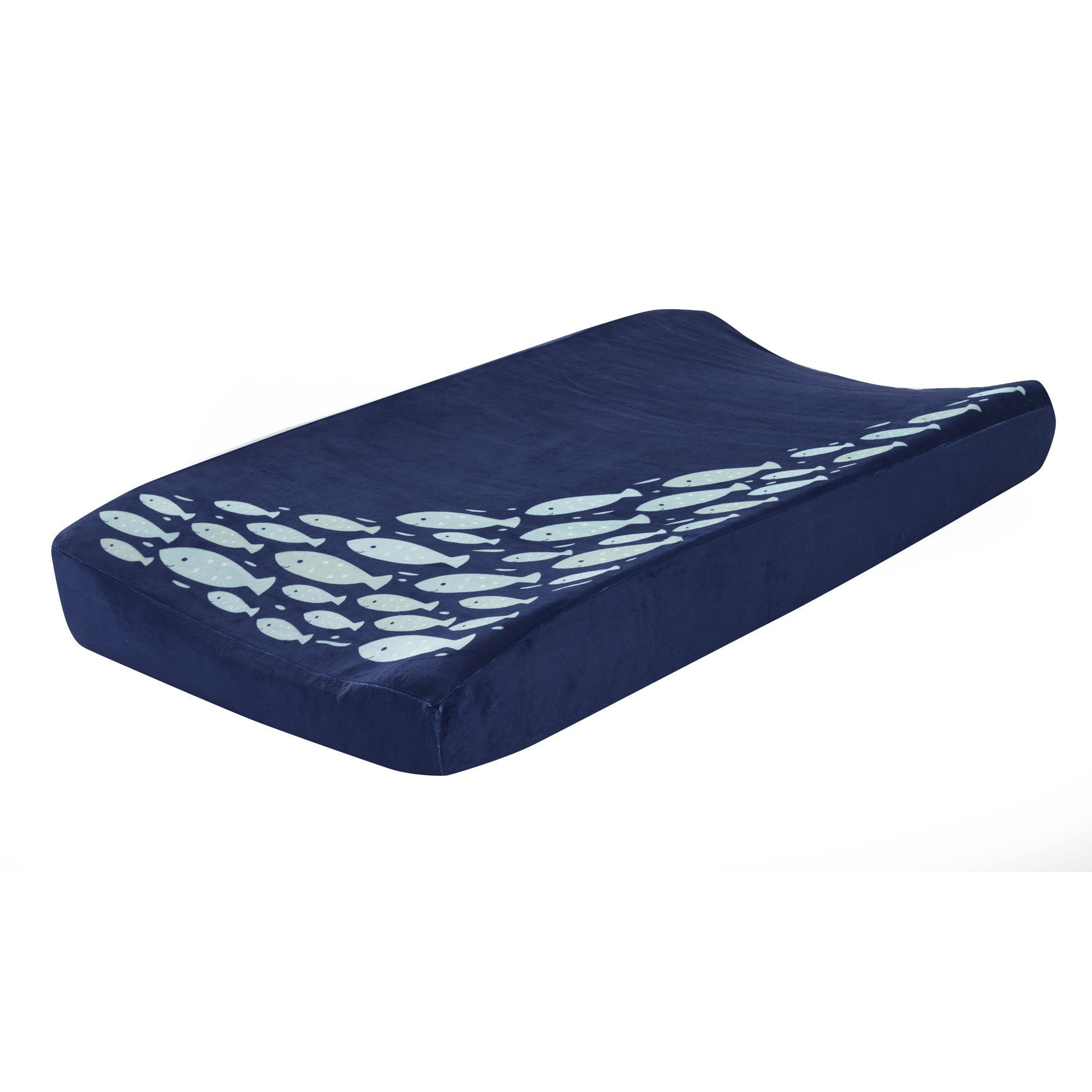 Lambs & Ivy Oceania Diaper Changing Pad Cover - Blue Fish by Lambs & Ivy