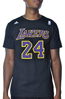 389d117b7f1 adidas Kobe Bryant Los Angeles Lakers Black Purple Jersey Name and Number T- shirt