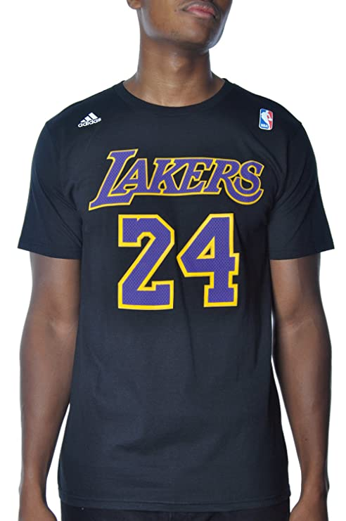 f37106a25735 Los Angeles Lakers Kobe Bryant Gametime Adidas Black T Shirt (Small)