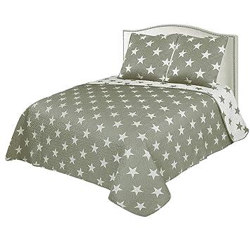 Colcha Boutí Reversible+Cuadrantes Estrellas (1750, 230x260+2 cuadrantes (para cama de 135/150)): Amazon.es: Hogar