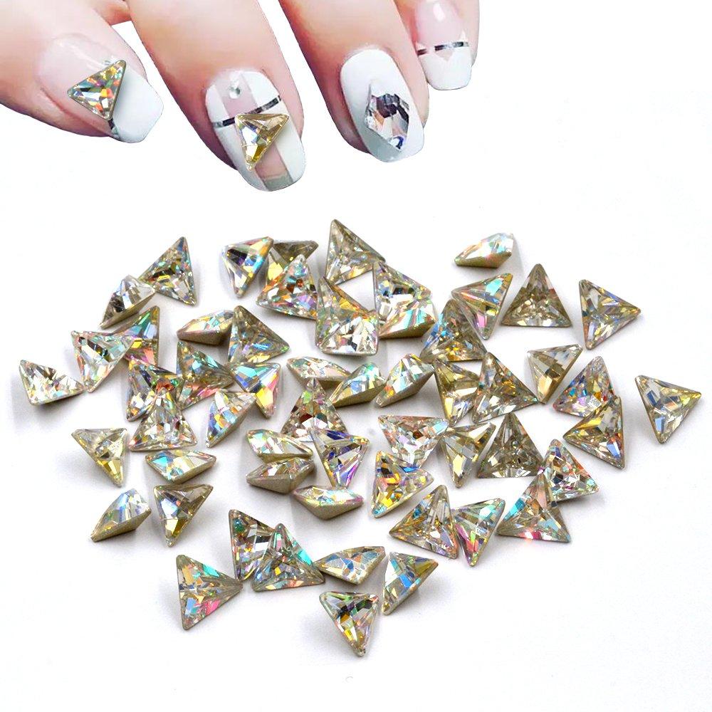 Amazon.com: Mixed 100pcs Charming Crystal Big Size Nail Art Diamond ...