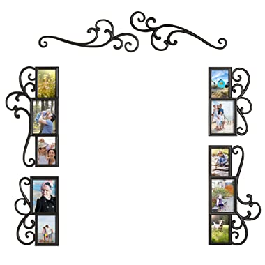 WallVerbs 6-Piece Over-the-Door Scroll Photo Frame Set in Black