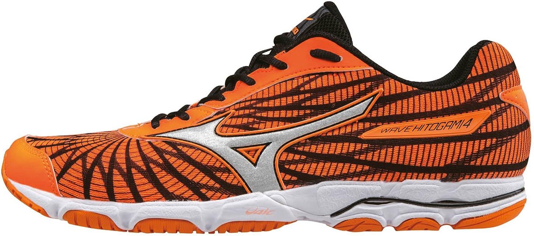 Mizuno Wave Hitogami 4, Zapatillas de Running para Hombre, Naranja (Clownfish/Silver/Black), 39 EU: Amazon.es: Zapatos y complementos
