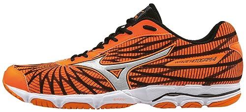 Mizuno Men's Wave Hitogami 4 Running Shoes, Orange (Clownfish/Silver/Black)