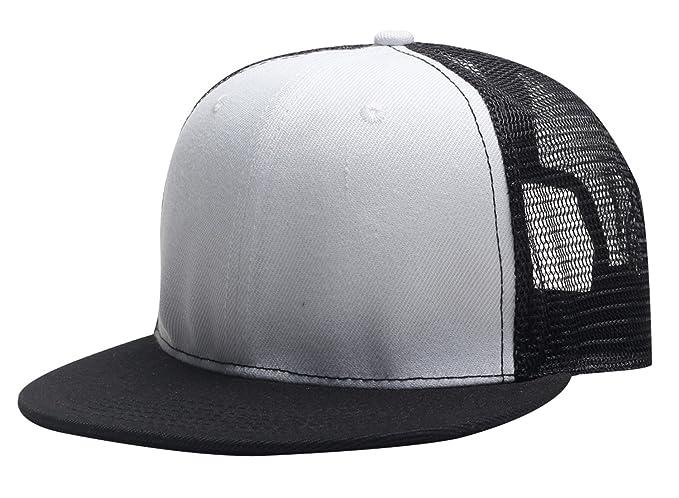 Aieoe Gorra de Visera Plano Snapback Hat Cap Hip Hop para Hombre Unisex  Sombrero de Béisbol de Moda Ajustable - Blanco  Amazon.es  Ropa y accesorios 0c568f723a8