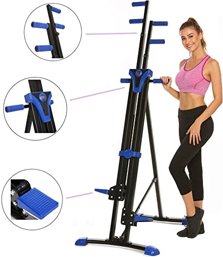 Hurbo Vertical Climber Home Gym Exercise Folding Climbing Machine Exercise Bike