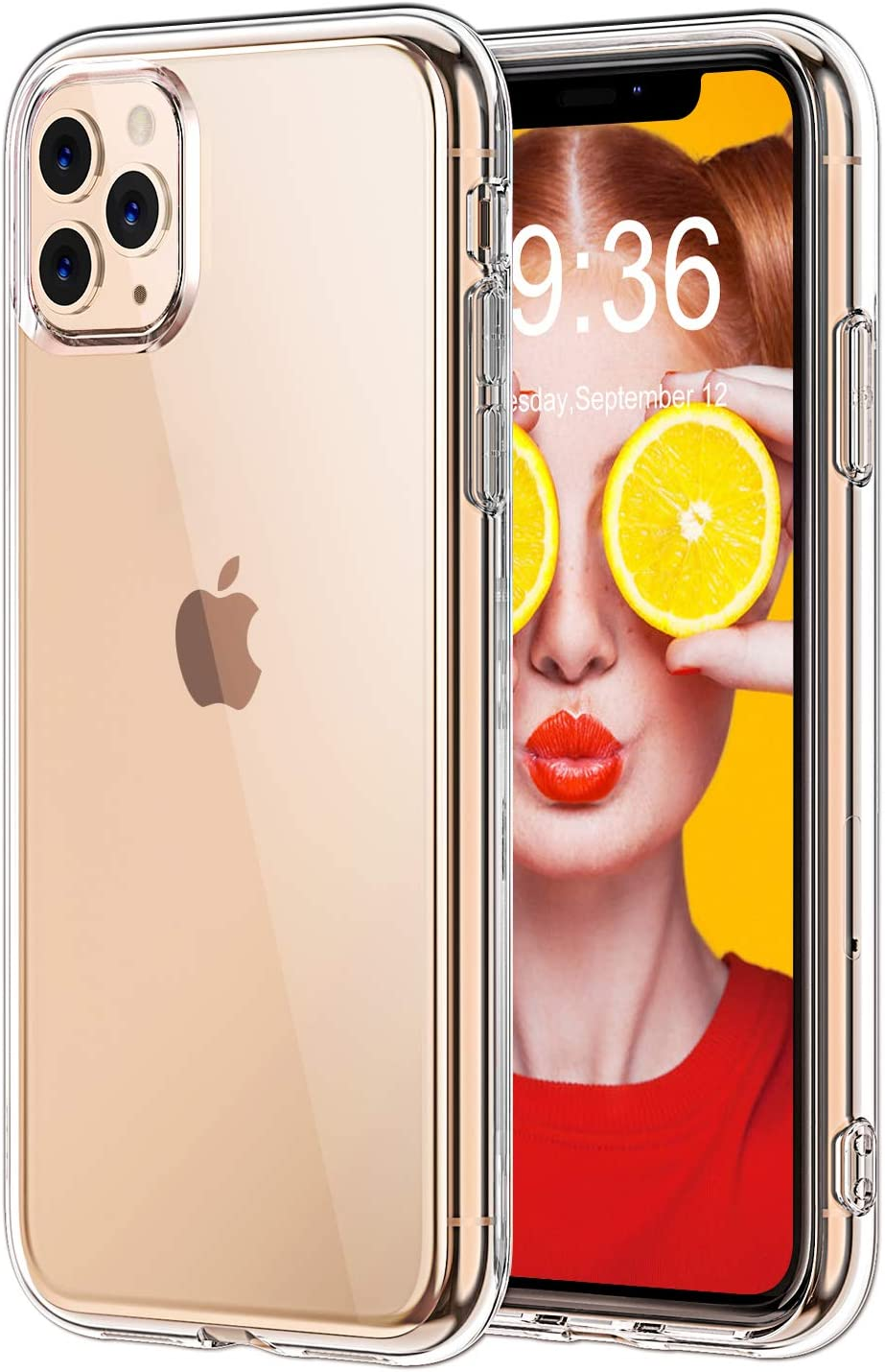 STOON for iPhone 11 Pro Case, Anti-Scratch Shock-Absorption Crystal Clear Phone Cover Case for iPhone 11 Pro, 5.8 inch, 2019