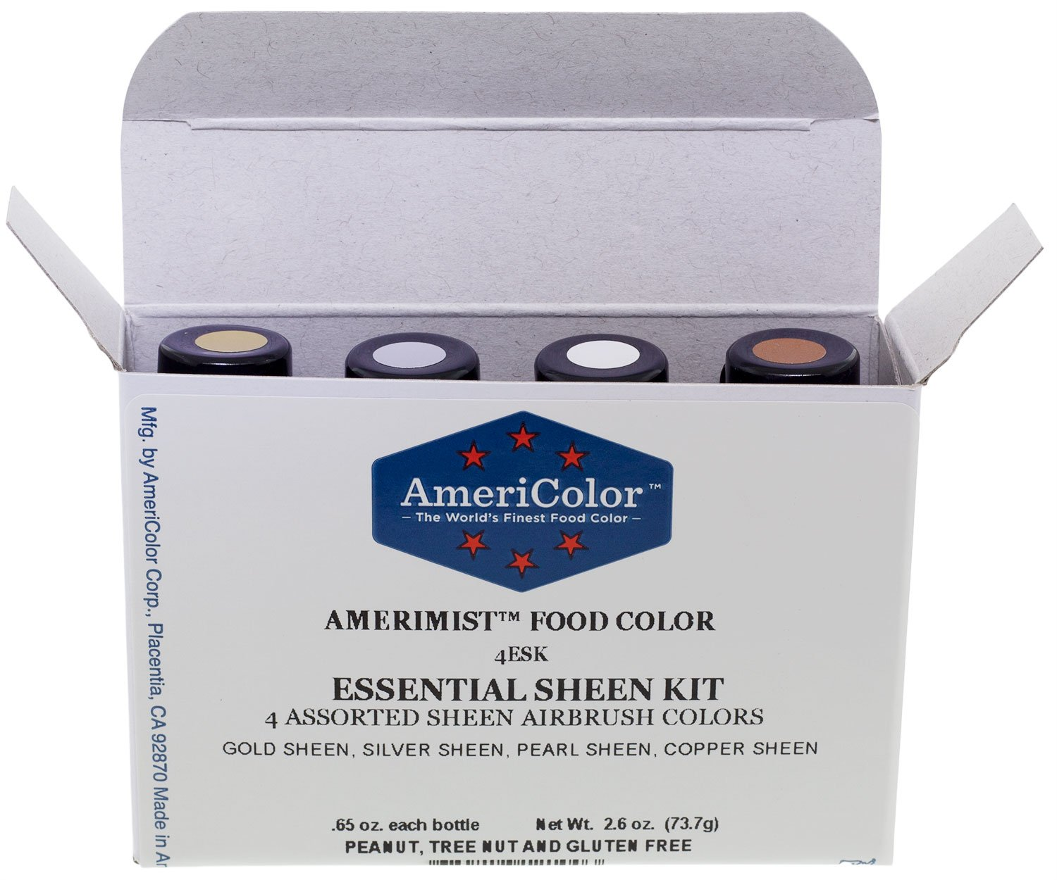 AmeriColor AmeriMist Essential Sheen Air Brush Kit, 0.65 Ounce, 4 Pack Kit