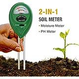 Mooncity 2en 1Soil Moisture Sensor Mètre et testeur de pH acidité, testeur de plante, idéal pour le jardin, Ferme, Pelouse, intérieur et extérieur (sans batterie Nécessaire)