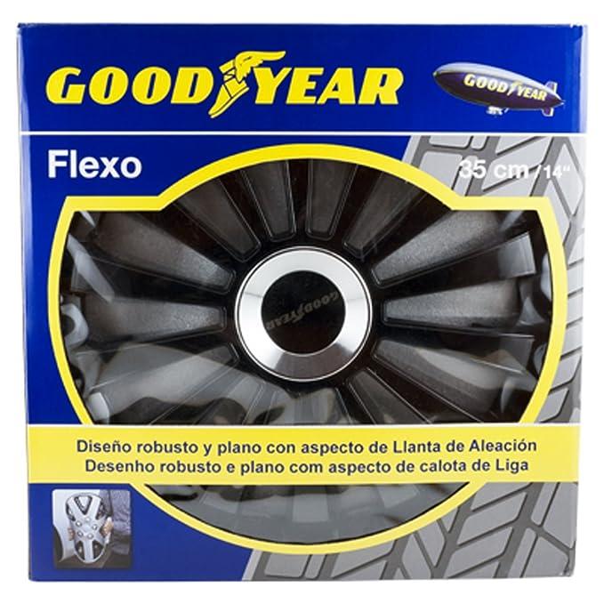 Amazon.com: Good Year GOD9033 - Set of 4 Universal Hubcap-Car Wheel Trims Flexo 40, Black, 15 inches: Automotive