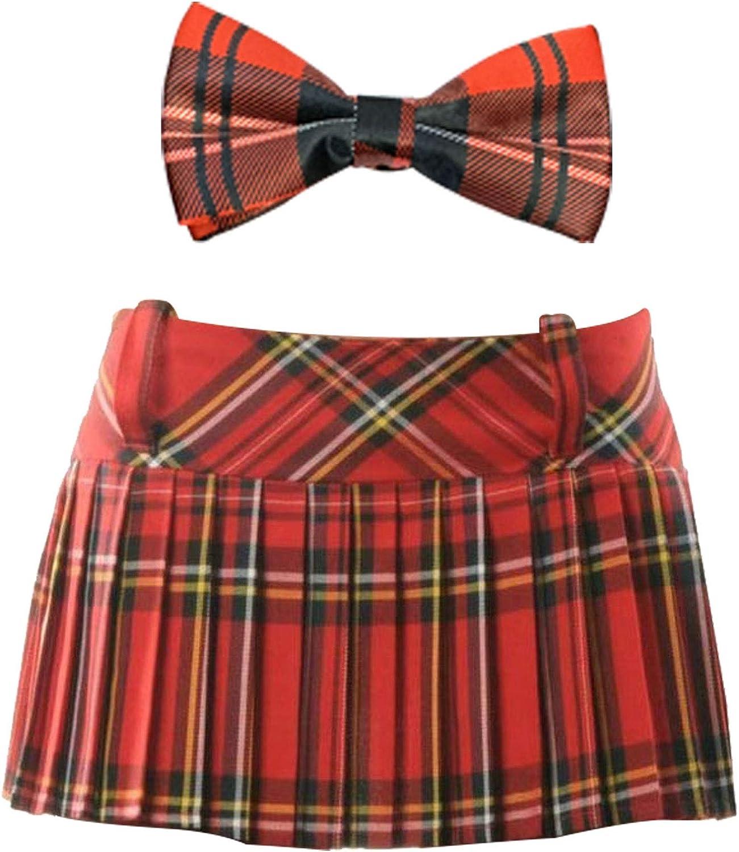 Labreeze - Falda Plisada Escocesa con Pajarita para niñas, Color ...