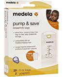 Medela Pump & Save Breastmilk Bags with easy-connect adapter 20-pack