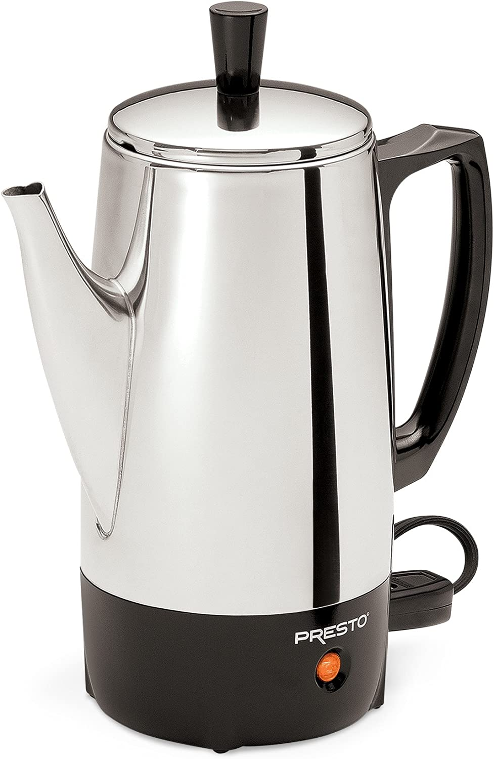 Presto 2822 6 Cup Coffee Percolator Stainless Steel Thermal