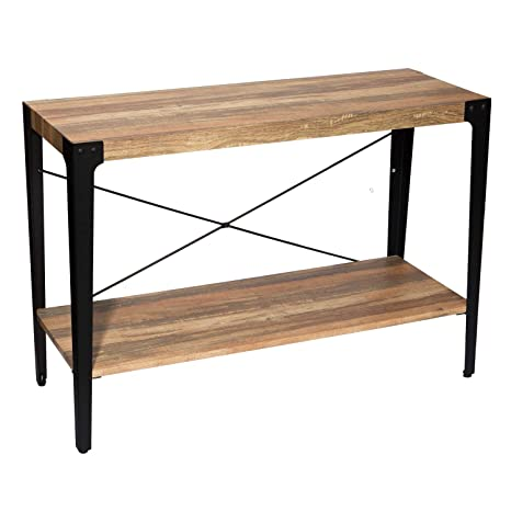 Terrific Ironck Industrial Console Table For Entryway Sofa Table Entryway Table With Storage Sofa Table 1 97 Thick Mdf Board With Angle Iron Frame Rustic Bralicious Painted Fabric Chair Ideas Braliciousco