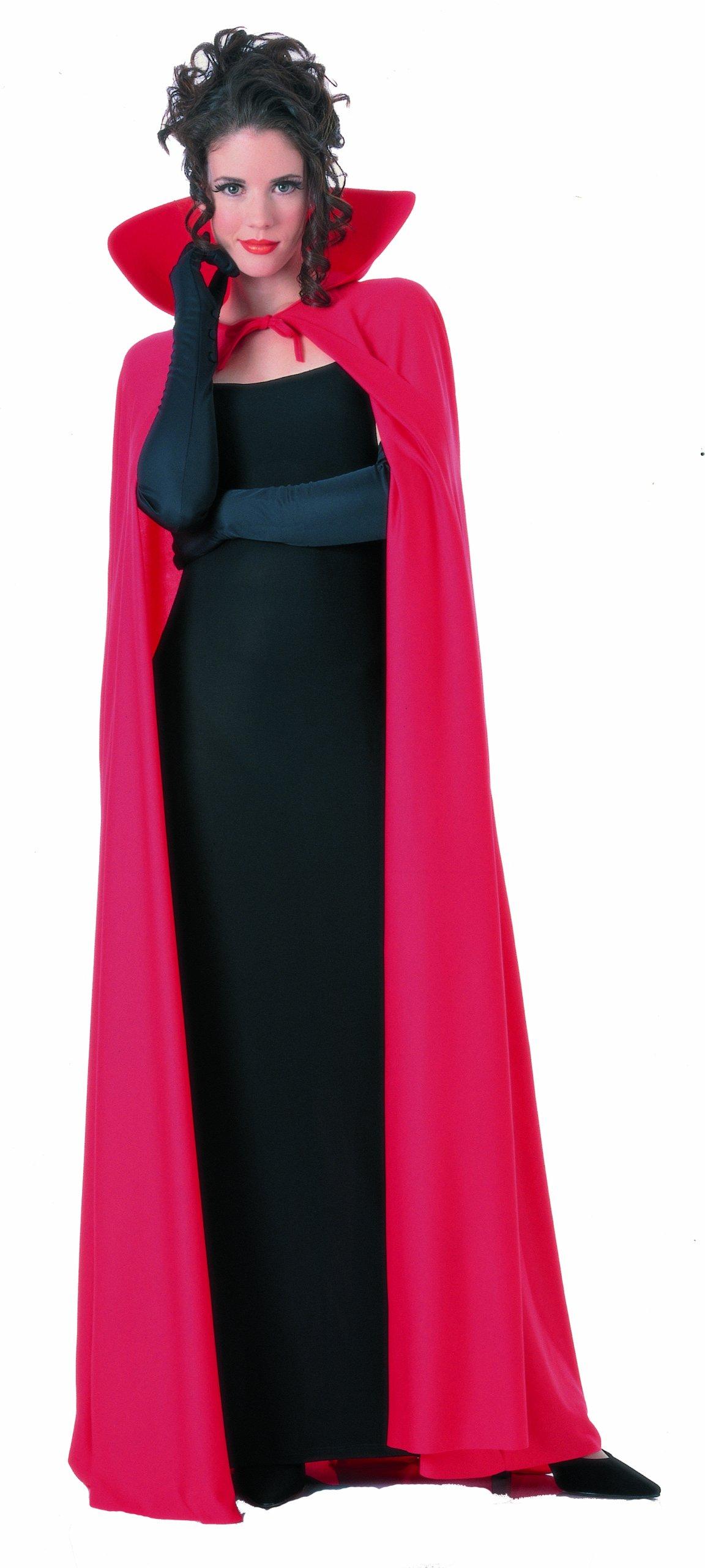 Rubie's Mens 60 Inch Taffeta Cape, Red, One Size Costume