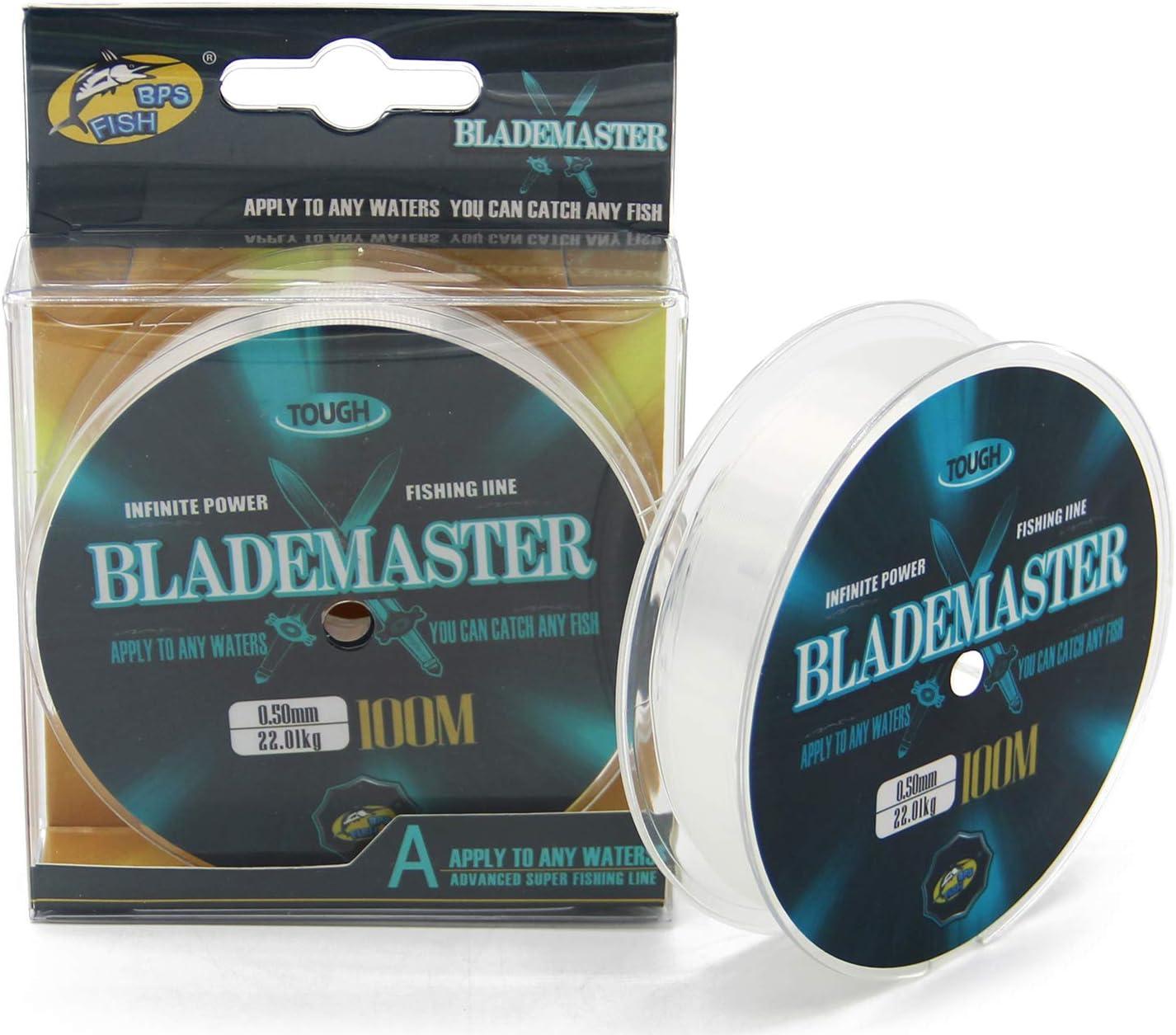 BPS L/ínea Hilo de Pesca Nylon Monofilamento Color Transparente Multifilamento Material S/úper Fuerte Pesca Profesional