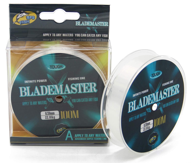BPS L/ínea de Pesca 100m Nylon Monofilamento Color Gris Multifilamento Material S/úper Fuerte Pesca Profesional
