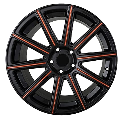 Amazon Com Mod 18 Inch Black With Red Mill Rims Fits Bmw 325it