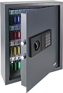 HMF 2030-11 Caja Fuerte para Llaves Antracita 30 Ganchos Cerradura electr/ónica 30 x 28 x 10 cm