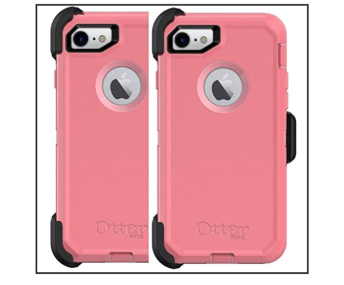 new styles 98f38 19d6b OtterBox Defender Series Case for iPhone 8 and iPhone 7 - Retail Packaging  - Rosmarine Way (Rosmarine/Pipeline Pink)