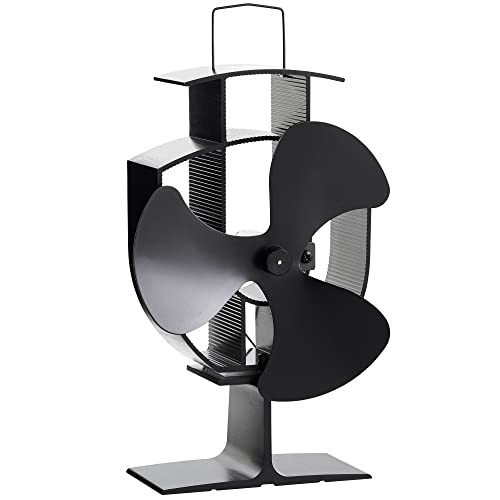 VonHaus 3 Blade Stove Fan – Silent, Heat Powered Wood/Log Burner Fan - Eco Friendly Heat Circulation for Fireplaces