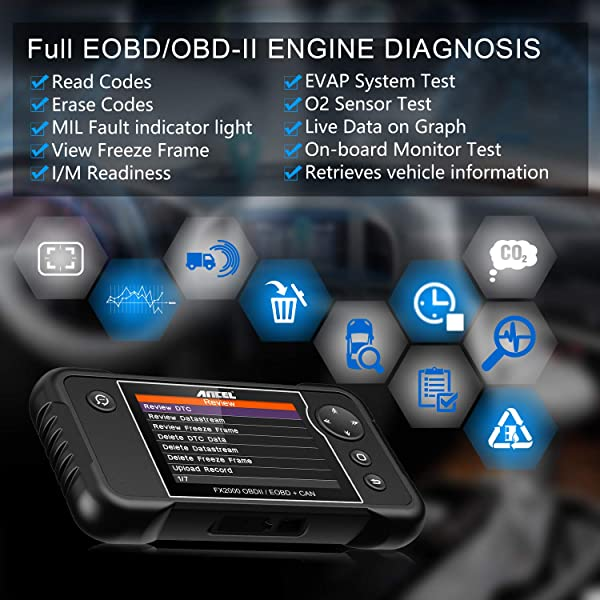 It supports all 10 OBD2 modes