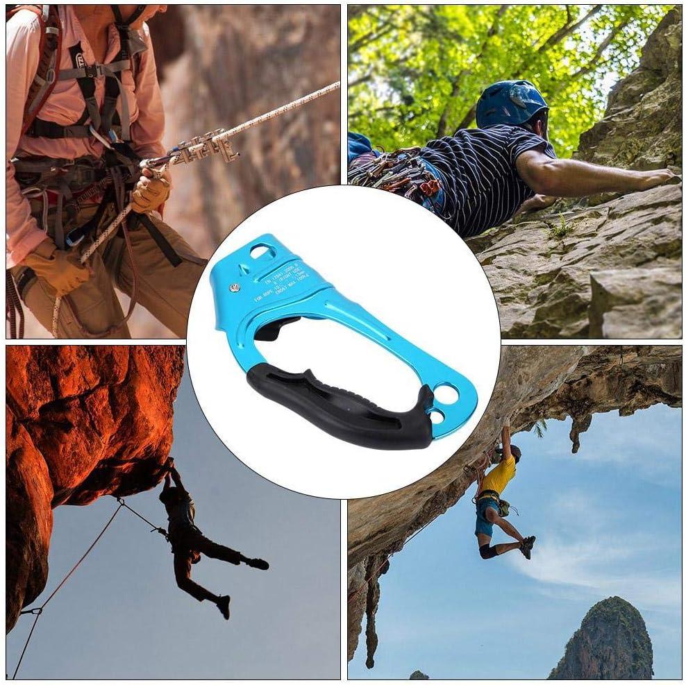 Alomejor Ascenso de Escalada Dispositivo de Escalada Montañismo al Aire Libre Cuerda Vertical Ascenso Ascensores de Escalada para Cuerda 8-13mm