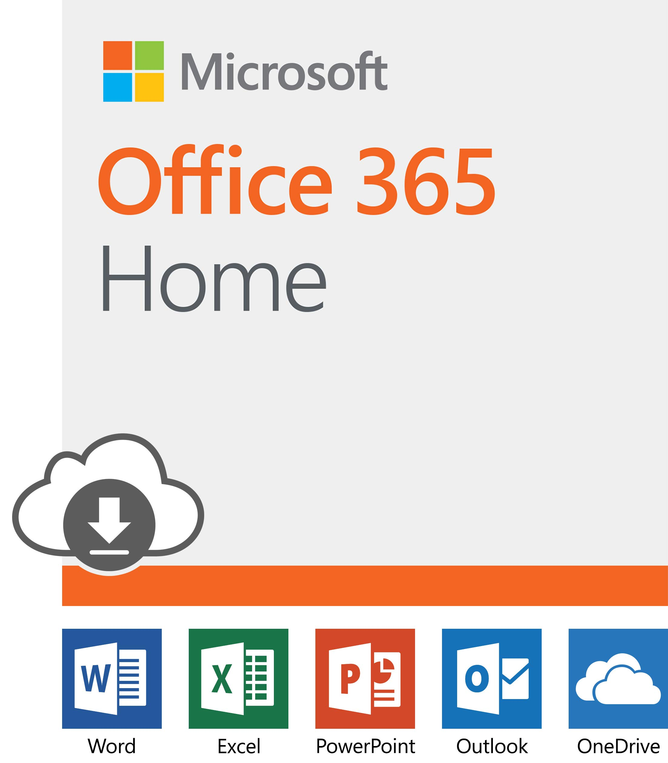 Microsoft Office 365 Home | 12-month subscription, up to 6 people, PC/Mac Download by Microsoft