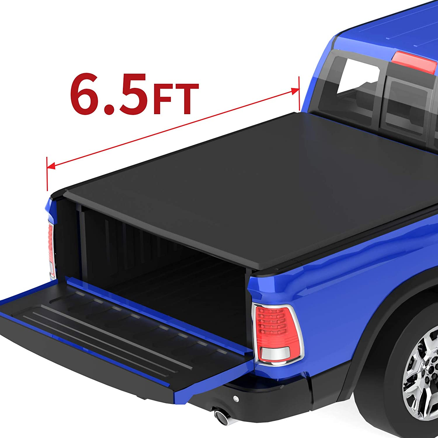 Amazon Com Oedro Roll Up Truck Bed Tonneau Cover Compatible With 2002 2020 Dodge Ram 1500 2003 2018 Dodge Ram 2500 3500 Fleetside 6 5 Feet Bed Automotive