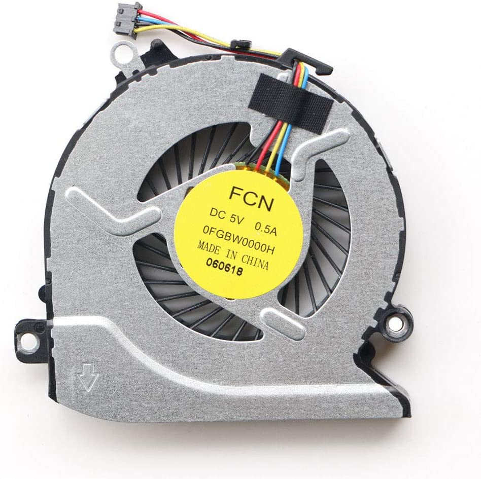KBR Replacement CPU Cooling Fan Compatible with HP Pavilion 15-AB 15-AB000 15-AB100 15-AB273CA 15T-AB200 15-an 15-ANXXX 15Z-a Series Laptop P/N: 812109-001