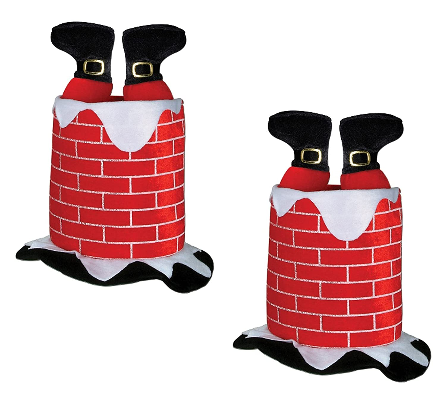 a46eac675db86 Amazon.com  Beistle 1-Pack Plush Santa Chimney Hat  Costume Headwear And  Hats  Kitchen   Dining