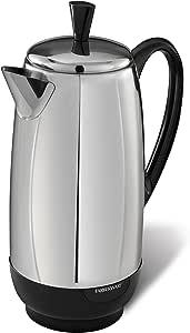 Farberware 12-Cup Percolator, Stainless Steel, FCP412