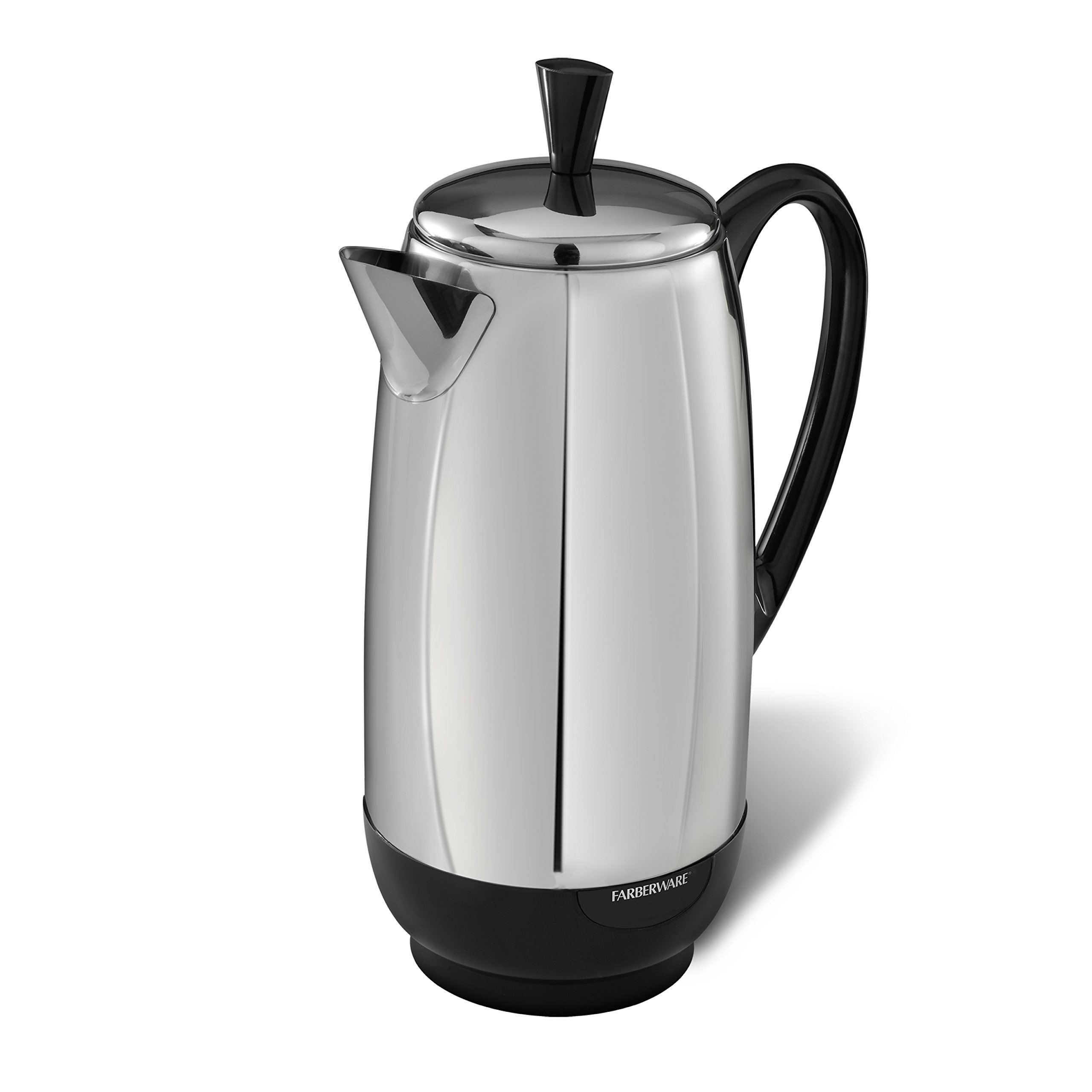 Farberware 12-Cup Percolator, Stainless Steel, FCP412 by Farberware