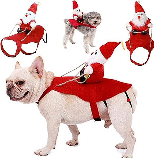 Oferta amazon: Fansport Navidad Ropa para Mascotas,Ajustables Gato Ropa Disfraz para Perros de Lindo Santa Adecuado para Navidad,Fiesta(Gato y Cachorro)