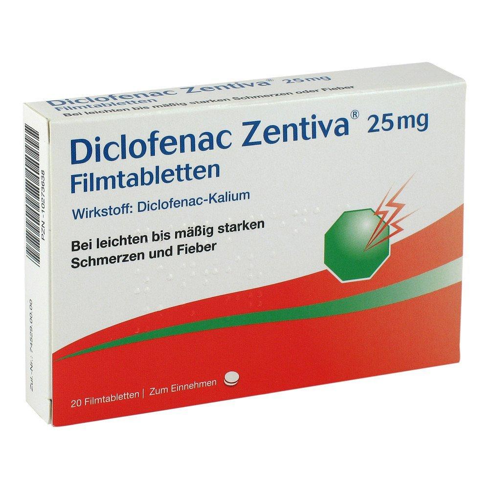 Diclofenac Zentiva 25 mg Filmtabletten, 20 St.