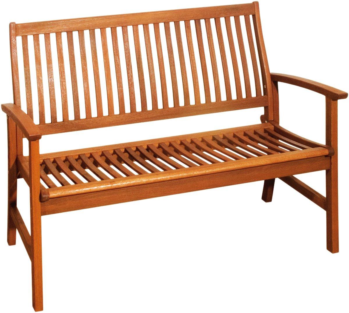2-Sitzer Gartenbank aus geöltem Bangkirai Holzbank Sitzbank Parkbank